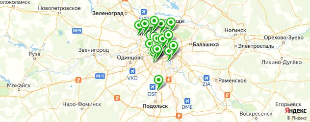 установка виниров на карте Москвы