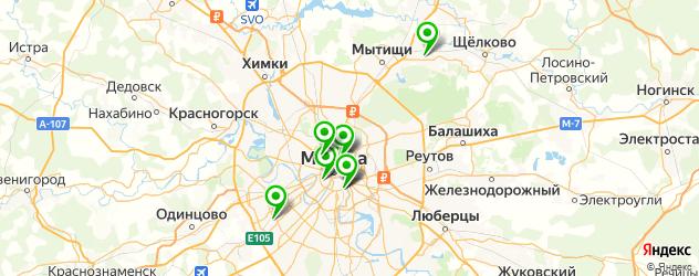 профилактории на карте Москвы