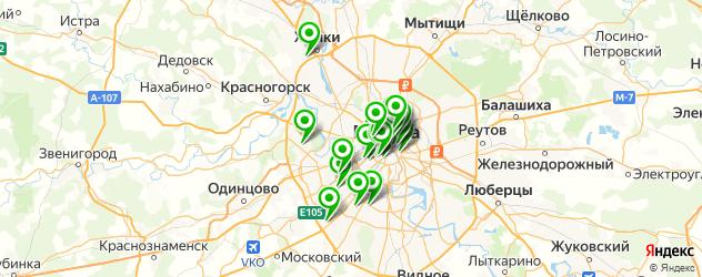 грузинские рестораны на карте Москвы