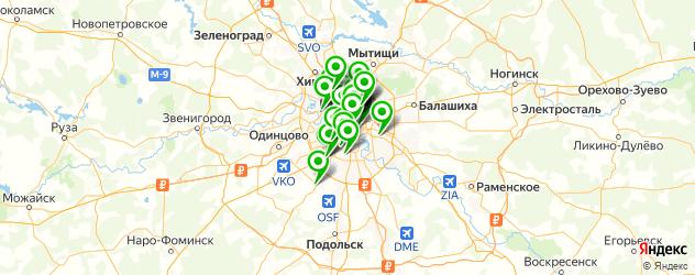 молочные коктейли на карте Москвы