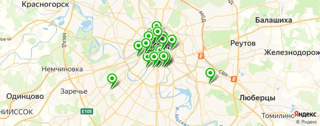 службы доставки еды на карте Москвы