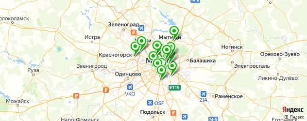 медицинские колледжи на карте Москвы