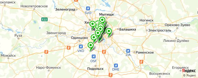 свежевыжатые соки на карте Москвы