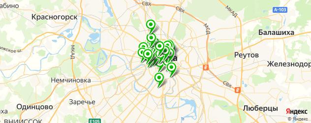 бары на карте Москвы