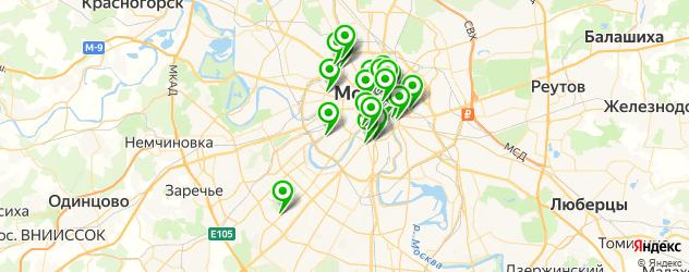 ночные клубы на карте Москвы