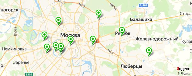 сквош-клубы на карте Москвы