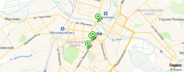 грузинские рестораны на карте Тулы