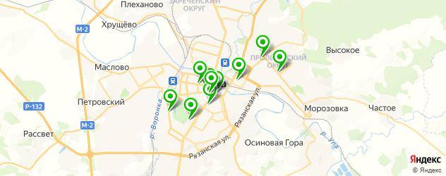ночные клубы на карте Тулы