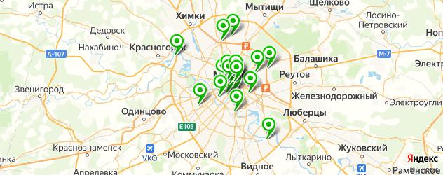 окрашивание волос на карте Москвы