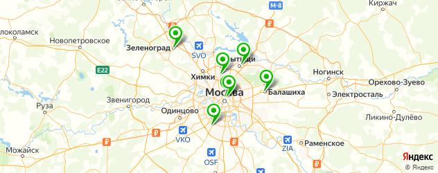 криосауна на карте Москвы