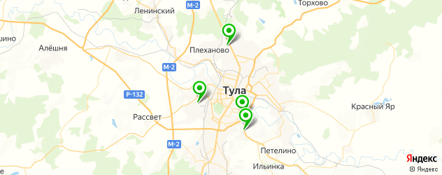 контрактные акпп на карте Тулы