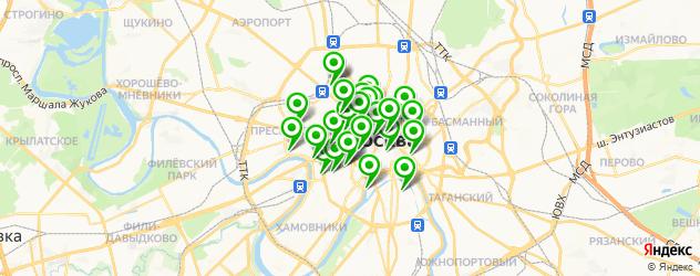 летняя веранда на карте Москвы