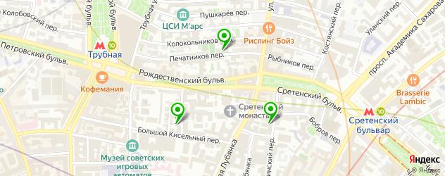йога-центры на карте Печатникова переулок