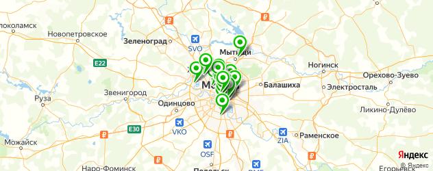 тату салон на карте Москвы