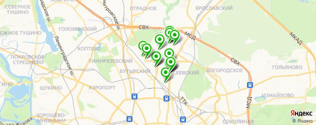 ВУЗы на карте Останкинского района