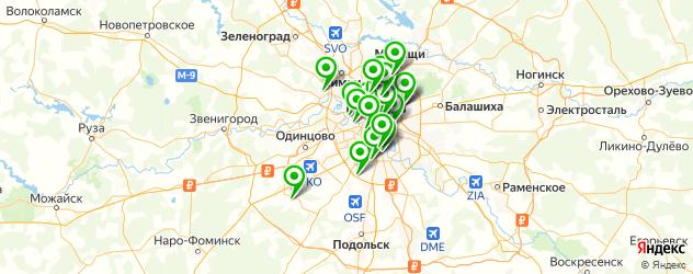 бани на карте Москвы