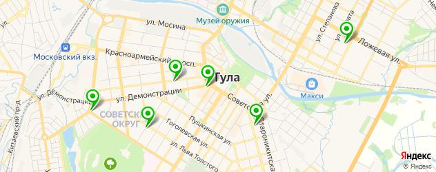 детские стоматологические поликлиники на карте Тулы
