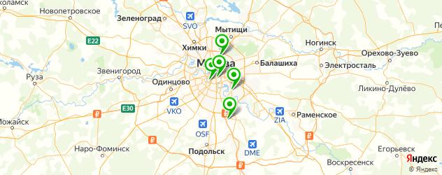школы волейбола на карте Москвы