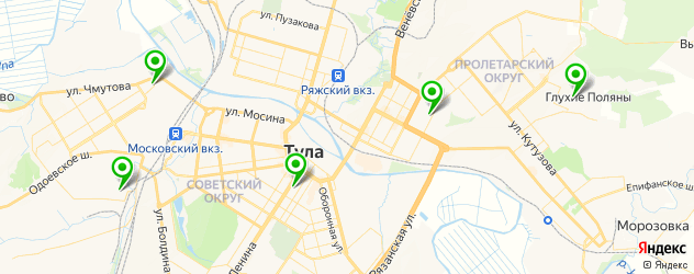 пекарни на карте Тулы