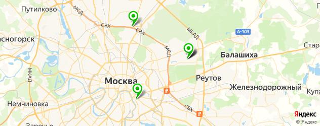 детские психоневрологические больницы на карте Москвы