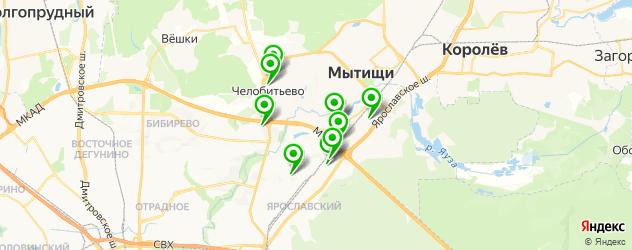 общежития на карте Мытищ
