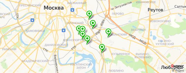 проточка тормозных дисков на карте ЮВАО