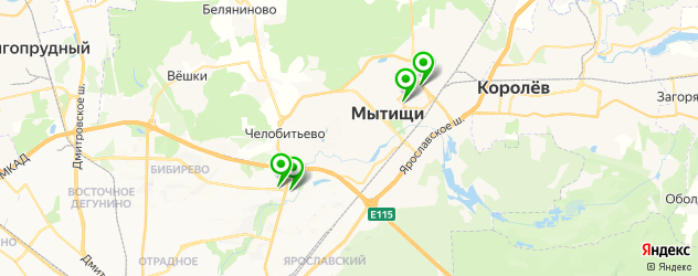 банкоматы с долларами на карте Мытищ