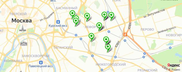 тонировка автомобиля на карте района Лефортово