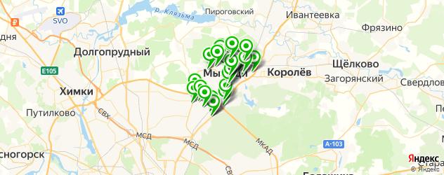 автомойки на карте Мытищ