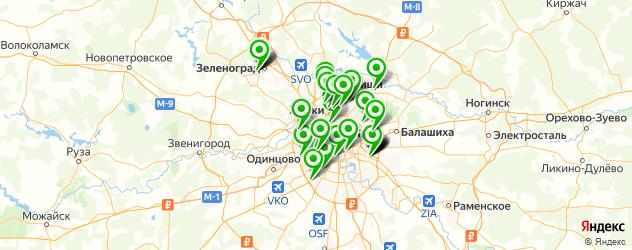 печать на пенокартоне на карте Москвы