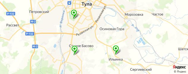 конные клубы на карте Тулы