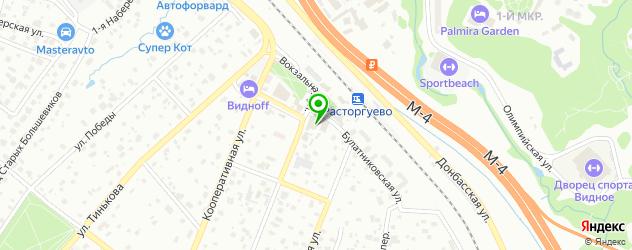 рестораны с детской комнатой на карте Видного