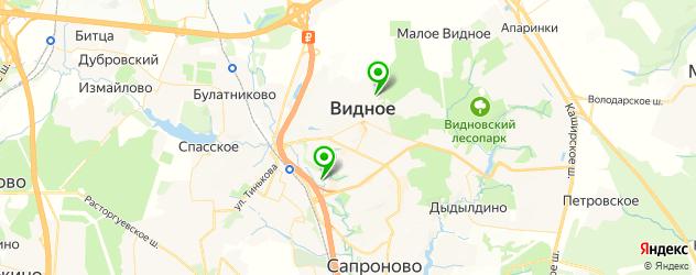 стадионы на карте Видного