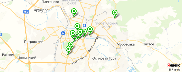 театры на карте Тулы
