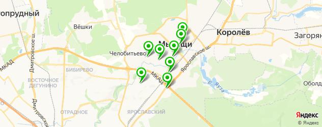 женские фитнес-клубы на карте Мытищ