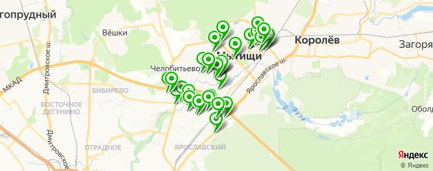 студии загара на карте Мытищ