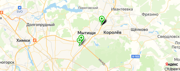 санатории на карте Мытищ