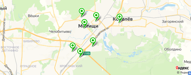 йога-центры на карте Мытищ