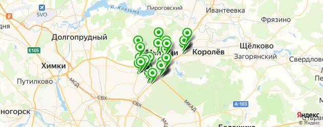 магазины запчастей на карте Мытищ