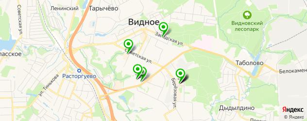 химчистки на карте Видного