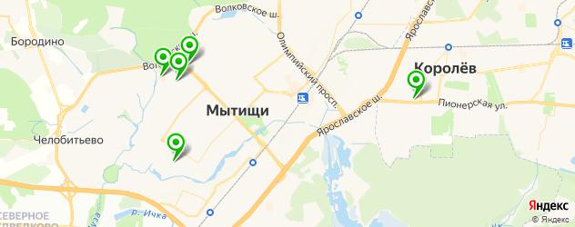 детские развлекательные центры на карте Мытищ