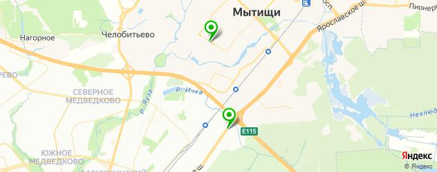 вегетарианские рестораны на карте Мытищ