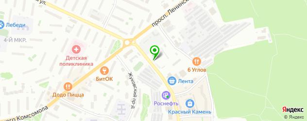 парковки на карте Видного