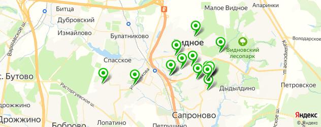 Спорт и фитнес на карте Видного