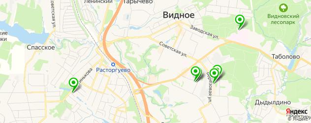 тренажерные залы на карте Видного