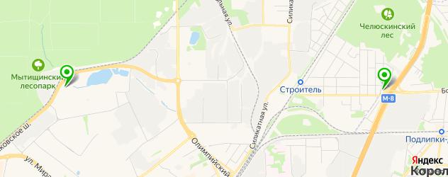 парковки на карте Мытищ