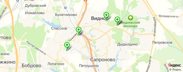 больницы на карте Видного