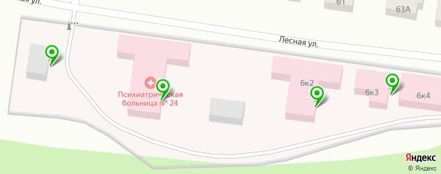 психиатрические больницы на карте Видного