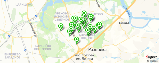 завивка волос на карте района Орехово-Борисово Южное
