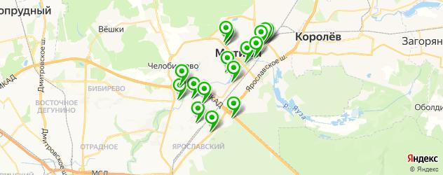 рестораны с детской комнатой на карте Мытищ